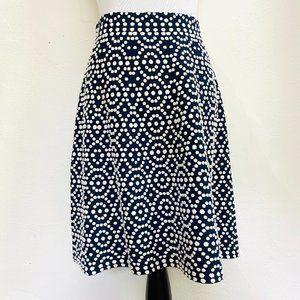Boden Navy White Polka Dot Skirt